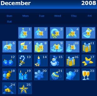 Europa Christmas calendar