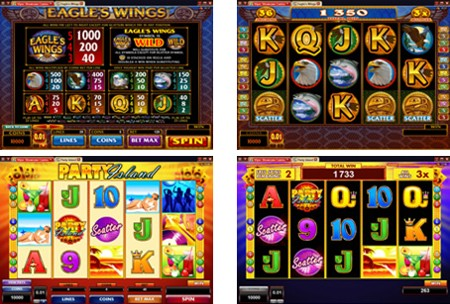 eagles wings party island new slots 2011