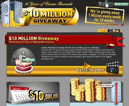 10M Giveaway CasinoRewards