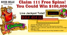 111 free spins king cashalot