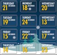 12 days calendar