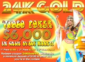 24k gold video poker cool cat