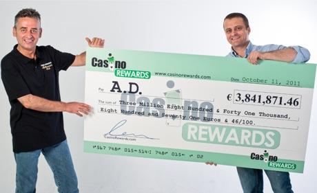 A D 3841871 jackpot cheque