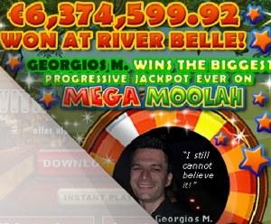 Georgios M Mega Moolah jackpot winner