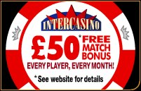 intercasino UK bonus