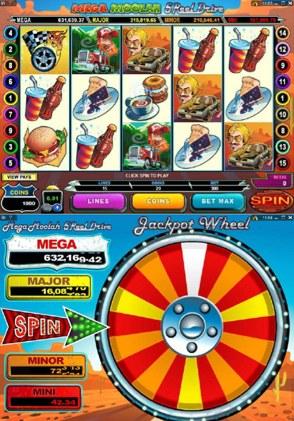 mega moolah 5 reel drive jackpot wheel
