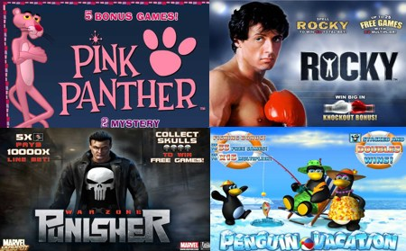 new slots pink panther rocky punisher penguin vacation